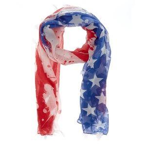 🔥5/$30 🔥NWT American Flag Scarf